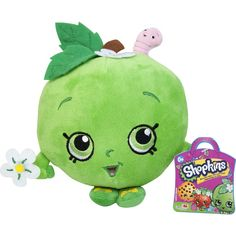 This is the Shopkins Apple Plush Figure. Shopkins plush figures are soft and cuddly. Shopkins are super popular and the kids love 'em. There are several figures to collect in the wave of plus Shopkins Season 2, New Shopkins, Shopkins Room, Happy Baby, Happy Kids, Shopkins Characters, Shopkins Figures, Sims, Valentine Box