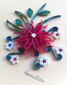 Quilling. Flowers - By: Canan Ersöz.