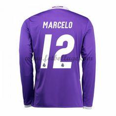 Fotbollströjor Real Madrid 2016-17 Marcelo 12 Bortatröja Långärmad