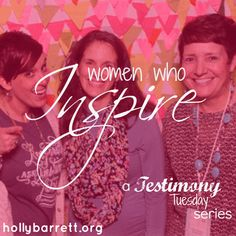 But God had a different plan in mind. Instead of a handful of stories…a few weeks of guest posters…we got 52. A whole year of posts dedicated to telling the goodness of God's work in our lives. Testimony Tuesday: Holly Barrett {A Wrap Up & A Giveaway}