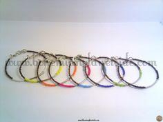 Pulseras - Pulseras Rainbow - hecho a mano por Bohemian-Planetoide en DaWanda