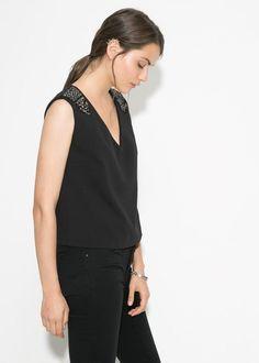f24daedfc3 7 best MANGO blouse Sequin ! Taille S images on Pinterest