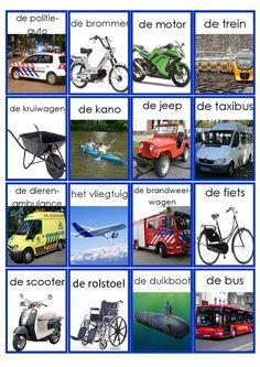 Meer pins voor je bord Van A naar B - reizen/ vervoer Maisy Mouse, Learn Dutch, Dutch Language, School Info, Transportation Theme, Fun Activities For Kids, Child Development, Netherlands, Jeep