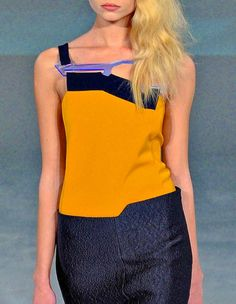 Hussein Chalayan Repinned by www.fashion.net Hussein Chalayan, Cybergoth, Technology, Tank Tops, Space, Womens Fashion, How To Wear, Clothes, Tech