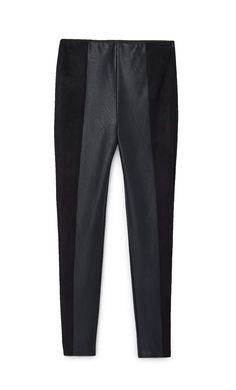 Legging combinado polipel - Pantalones de mujer | Stradivarius Trousers Women, Women's Trousers, Leggings, Sweatpants, Fashion, Women's, Clothing, Women, Moda