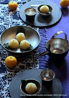 『夏空』〜 山椒の外郎 の画像|モード系*和菓子 + 器 のテーブルスタイリング