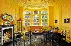 Painted Gold Room by Timna Woollard Studio for Solange Azagury-Partridge's Mayfair Jewellery shop London. image © Solange Azagury-Partridge, solange.co.uk