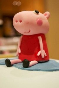 How to make a Peppa Pig Cake Topper – Tutorial #PeppaPig #Cake