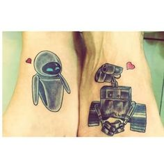 And this WALL-E and EVE match made in space-heaven: | 21 Magical Disney Couple Tattoos