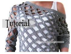 Delicadezas en crochet Gabriela: Blusas caladas paso a paso