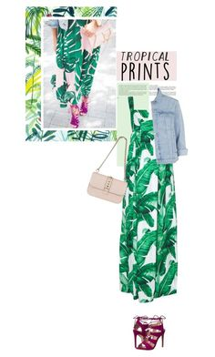"""""""Hot Tropics"""" by meyli-meyli ❤ liked on Polyvore featuring Whiteley, Dolce&Gabbana, Steve Madden, Topshop, Valentino, tropicalprints and hottropics"""