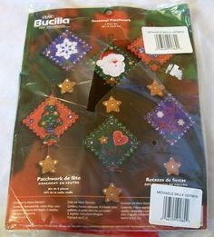 Christmas Ornament Kit, Bucilla Craft Kit, Felt Kit,  Bucilla Christmas Crafts, Felt Christmas Ornament Kit by VintagePlusCrafts on Etsy