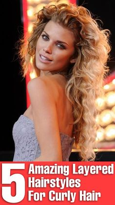 5 Amazing Layered Hairstyles For Curly Hair Attention, attention! Because I've got few layered hairstyles for curly hair that will change your life. Have a look Haircuts For Curly Hair, Curly Hair Tips, Permed Hairstyles, Long Curly Hair, Pretty Hairstyles, Curly Hair Styles, Long Haircuts, Hairstyle Ideas, Layered Curly Hair