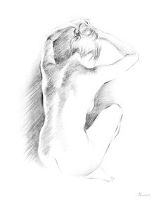 Morning I Poster Print by Deborah Pearce x Body Drawing, Life Drawing, Figure Sketching, Figure Drawing, Pencil Art Drawings, Art Drawings Sketches, Body Sketches, Sketches Of Love, Silhouette Art