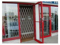 Folding Gate For Storefront Door Security   Glassessential.com Http://www.