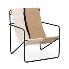 Desert Chair of ferm Living now at the Connox Shop. Original stamp ✔ 3 % discount for advance payment ✔ 30 days right of return! Outdoor Chairs, Outdoor Furniture, Outdoor Decor, Black Soil, Lounge Design, Boho Stil, Recycle Plastic Bottles, White Beige, Furniture Sale
