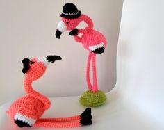 """Mr & Mrs Flamingo crochet amigurumi pdf pattern."" #Amigurumi  #crochet"