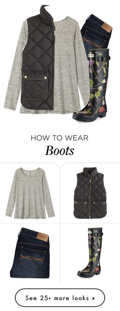 """Hunter boots"" by preppygirlusa on Polyvore featuring Abercrombie & Fitch, Toast, J.Crew and Hunter"