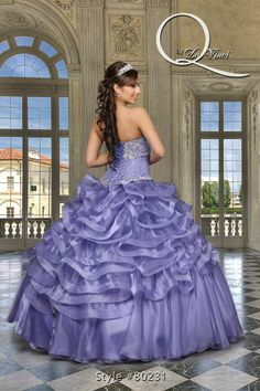 376ca28c398 ... by using this Hermoso vestido Q by Davinci style 80231 Elegant Organza  and sequins gown in lavender with a beautifully beaded bodice and soft  ruffles!