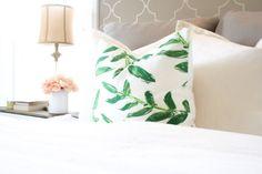 Palm Springs Pillow Cover Leaves Palm by WhiteHavenDesigns #etsy #homedesign #home #pillow #decoration #bedroom #livingroom #usahandmade #green #jungle #tropical #handmade #decor