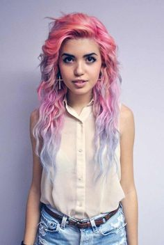 beautiful, reminds me when I had pink hair