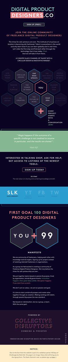 Sign-up for the Digital Product Designers Slack Community