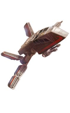 MOLDY CROW / HWK-290 light freighter  DESCRIPTION: was a light freighter manufactured by the Corellian Engineering Corporation during the decades leading up to the Battle of Naboo, in an effort to break into a new market for fast, small cargo ships. Unlike YT-series of ships for tramp captains, the Hawk line was aimed at more upscale clients, like wealthy merchants and noble politicians. The series saw modest success, but never reached the amount of sales of YT-series.