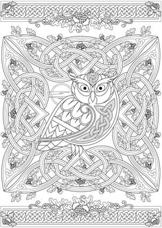 Welcome To Dover Publications From Creative Haven Deluxe Edition Celtic Nature Coloring Book