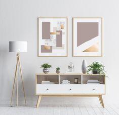 Neutral Tones Geometric Art Prints Set Set of 2 Posters   Etsy Bedroom Prints, Bedroom Wall, Wall Art Prints, Bedroom Decor For Couples, Couple Bedroom, Guest Room Decor, Living Room Decor, Poster Art, Art Posters