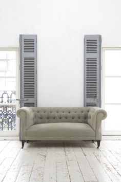 Chesterfield model in fabric. Soft Sanctuary