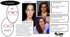 Glasses for oblong faces