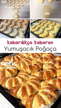 Kabardıkça Kabaran Yumuşacık Poğaça - Nefis Yemek Tarifleri How to make a soft squash recipe that swells as it swells? Illustrated explanation of this recipe in 332 people's books and photographs of those who try it are here. Pogaca Recipe, Pizza Pastry, Mint Desserts, Buttermilk Bread, Baked Cheesecake Recipe, Wie Macht Man, Puff Pastry Recipes, Secret Recipe, Turkish Recipes