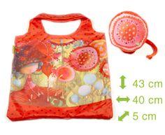 Sac de nylon Ketto repliable - jungle de fleurs / Ketto's foldable nylon bag - jungle of flowers * Fabriqué à 80% de bouteilles de plastique recyclées / Made of 80% of recycled plastic bottles * www.kettodesign.com