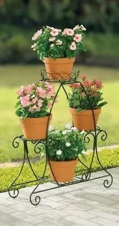 nice 53 Cozy House Plants Decoration Ideas For Indoor Garden Plant Stand, Metal Plant Stand, Garden Planters, Plant Stands, Balcony Garden, House Plants Decor, Plant Decor, Iron Wall Art, Wrought Iron Decor