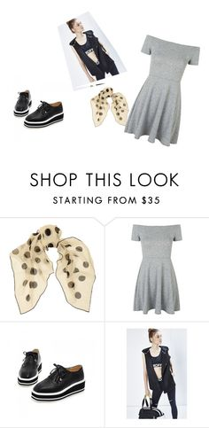 Skater dress by imperfect-muse on Polyvore featuring Topshop, Rebecca Minkoff, JY Shoes and Yves Saint Laurent