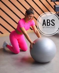Roll Outs- Ab Roll Outs Ab exercise. Tone and tighten your abs with this stability ball workout. - Roll Outs- Ab Roll Outs Ab exercise. Tone and tighten your abs with this stability ball workout. Pilates Training, Fitness Studio Training, Fit Board Workouts, Gym Workouts, At Home Workouts, Workout Board, Yoga Ball Workouts, Fitness Ball Exercises, Yoga Ball Abs