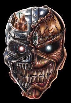 Eddie from Iron Maiden Heavy Metal Art, Heavy Metal Bands, Skull Stencil, Skull Art, Iron Maiden Mascot, Iron Maiden Posters, Eddie The Head, Iron Maiden Band, Classic Rock