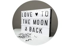 Lightbox Love you to the moon and back ENGEL + BANDITEN