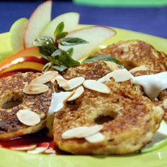 Receta de Aros de manzana con caramelo de dificultad Muy fácil para 6 personas lista en 40 minutos.