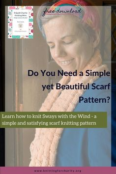 Learn how to knit Sways with the Wind - my pattern to knit a bamboo rib stitch scarf! - Knitting for Charity Knitting For Charity, Easy Knitting, Loom Knitting, Love Knitting Patterns, Stitch Patterns, Learn How To Knit, How To Make Notes, Education Quotes, Knitting Projects