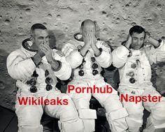 Apollo 10 astronauts Gene Cernan, Tom Stafford, and John Young goof around when they pose for their crew portrait, circa (NASA) Terre Plate, Earth Film, Nasa Lies, Three Wise Monkeys, Nasa Space Program, Apollo Program, See No Evil, Dante Alighieri, What Really Happened