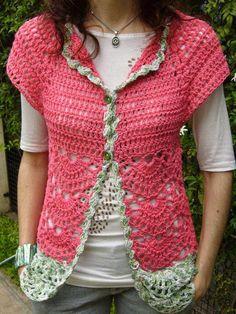 Crochet over top Crochet Coat, Crochet Cardigan Pattern, Crochet Jacket, Crochet Blouse, Cute Crochet, Crochet Clothes, Popular Crochet, Freeform Crochet, Crochet Designs