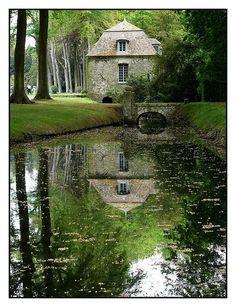 In the park, Chateau de Courances, Courances, France Copyright: Cedric Devarenne