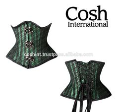 Corset Supplier : Ci-481 Black Green Striped Brocade Double Steel Boned Underbust Corsets | COSH International #coshinternational #womencorset #smallcorset #higqualitycorset #underbustcorset #waisttrainingcorset #fetishcorset #satincorset #gothiccorset #bestqualitycorset #steelbonescorset #doublesteelbonedcorset #realleathercorset #corsetbutier #cotsetsupplier #overbustcorset #steelboningcorset #manufacturer #valentineday #greenstripedcorset #brocadedoublecorset #blackgreencorset #supplier