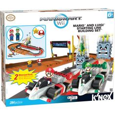 Tomy K'nex Mario Kart Wii Mario and Luigi At The Starting Line Set Lego Super Mario, Super Mario Bros, Mario And Luigi, Mario Kart, Nintendo, Caleb, Power Motors, Wii Games, 90s Childhood