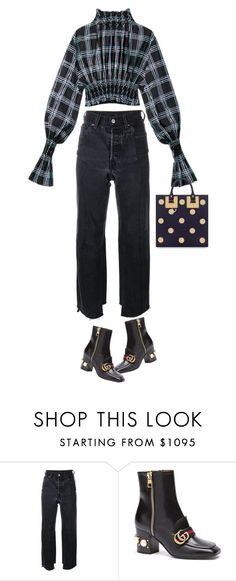 """like just another day."" by sharplilteeth ❤ liked on Polyvore featuring Vetements, Gucci and Sophie Hulme"