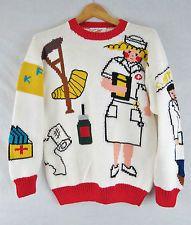 Knit Doctor Care Nurse Medicine Sweater