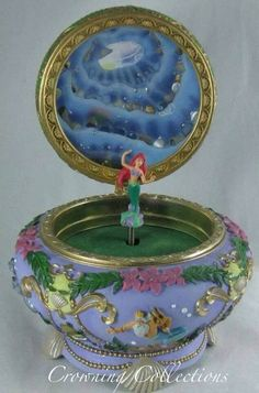 Little Mermaid music jewelry box rare Disney Pinterest Music