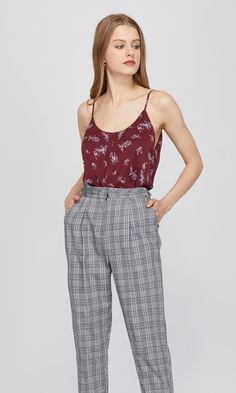 dff5fcb4be Laurel Printed Tie-Waist Cami