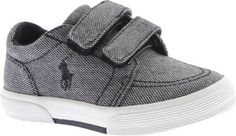 Polo Ralph Lauren Kids Faxon II EZ Fashion Sneaker (Toddler), Black, 7.5 M US Toddler. Origin: Imported. Fit: True to Size. Outsole: Rubber. Upper: Polyester. Features of this item include: Back to School, Casual, Contrast Stitching, Hook and Loop, Padded, Polyester, Rubber Sole, School.